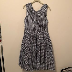 Checkered mid length dress
